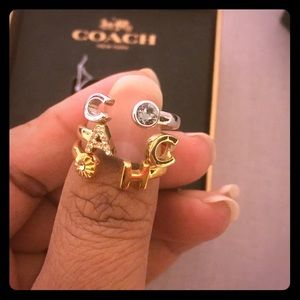 Stackable coach designer gold rings